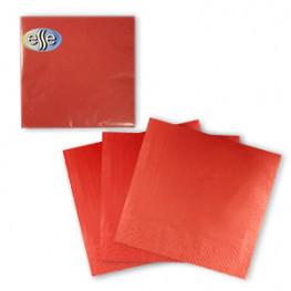 Салфетки красные 33х33см 3 сл 20шт/уп