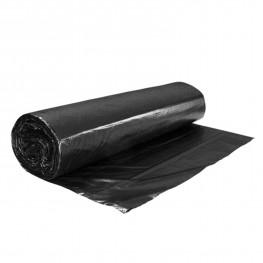 Мешок для мусора 120л 20мк 80х110см черные 10шт/рл