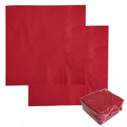 Салфетки красные 33х33см 2 сл 100 шт/уп