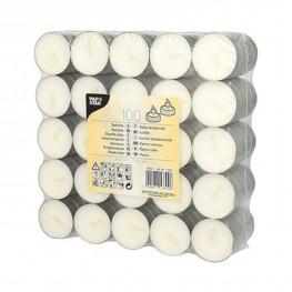 Свечи чайные d3,7см h2,0см 100шт/уп