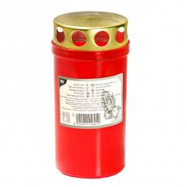 Свечи ритуальные d6,4смх12,5см с крышкой, красные
