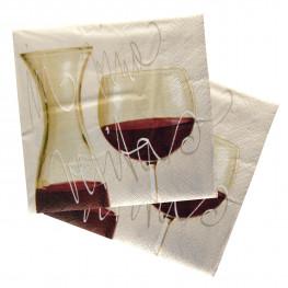 Салфетки 3сл 33х33см Вино 20шт/уп