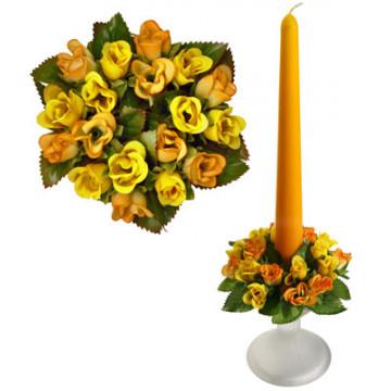 Букет на свечу d3см внутр Цветы желтые