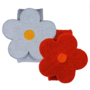 Кольцо для салфеток Цветы красные d3см