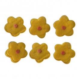 Конфетти Цветы мягкие d3см 12шт/уп