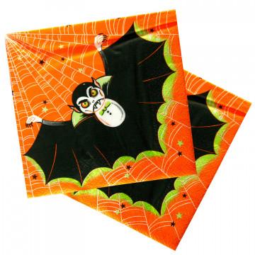 Салфетки 3сл 33х33см Halloween Дракула 20шт/уп