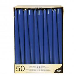 Свечи Античные d2х25см синие 50шт/уп