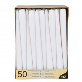 Свечи Античные d2х25см белые 50шт/уп