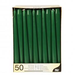 Свечи Античные d2х25см зеленые 50шт/уп