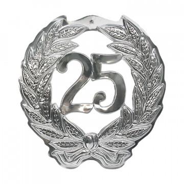 Знак Юбилей 25 серебристый d40см 1шт/уп Kg