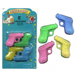 Игрушка подарочная Пистолет водяной 4шт/уп