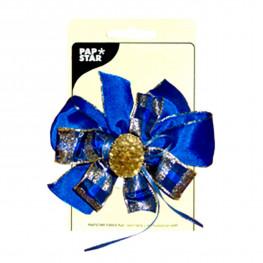 Декор Бант для подарков синий d12см Ps