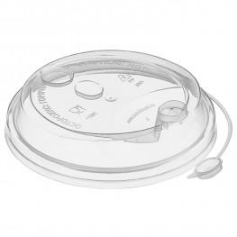 Крышка к стаканам d9,0см с пробкой заглушкой прозрачная 50 шт/уп