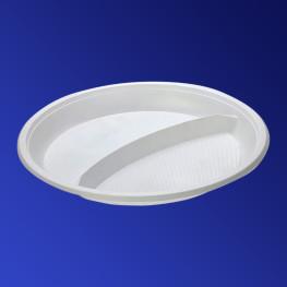 Тарелка одноразовая PS d21см С-2 белая 100шт/уп