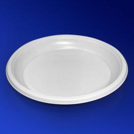 Тарелка одноразовая PS d16,7см белая 100шт/уп