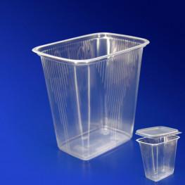 Контейнер пластиковый 500мл PP прозрачный 10,8х8,2х10,5см Алькор