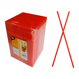 Трубочка d0,5x24см красная 1000шт/уп box Ps
