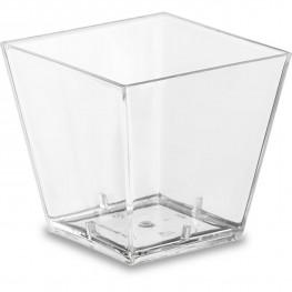 Мини-сервиз форма Квадрат PS 60мл 4,0х4,0х3,0см 20шт/уп