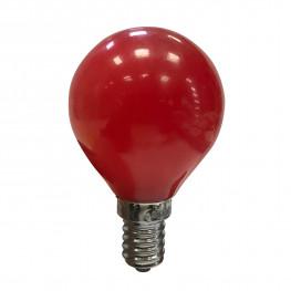 Лампочка E14 LED красная 230V, 0 5W 7,5х4,5см