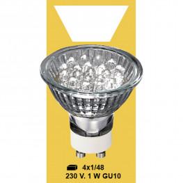 Лампочка теплобел LED 230V 1W