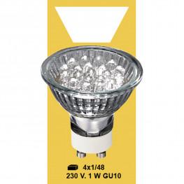 Лампочка холоднобел LED 230V 1W