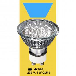 Лампочка голубая LED 230V 1W