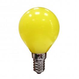 Лампочка E27 LED желтая 230V, 0 7W 9,6х5,5см