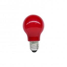 Лампочка E27 LED красная 230V, 0 7W 9,6х5,5см