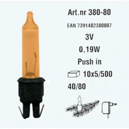 Лампочка электр разноцвет 3V 0,19W