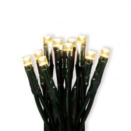 Гирлянда 1,35м теплобелая Грозди кабель зеленый 1,5м 10диодов LED indoor