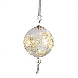 Гирлянда 4,5м золотистая Шары стекло Солнце d15см кабель прозрачный 3м 16диодов LED indoor