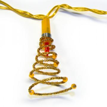 Гирлянда 1,35м золотистая Спираль кабель золотистый 1,5м 10ламп indoor