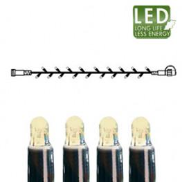 Гирлянда цепочка 5м теплобелая кабель черный дополнительная 50диодов LED outdoor