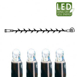 Гирлянда цепочка 5м холоднобелая кабель черный дополнительная 50диодов LED outdoor