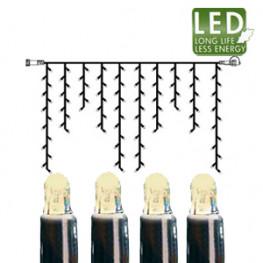 Гирлянда дождь 2х1м теплобелая кабель черный дополнительная 100диодов LED outdoor