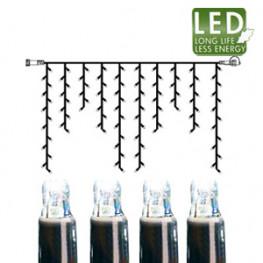 Гирлянда дождь 2х1м холоднобелая кабель черный дополнительная 100диодов LED outdoor