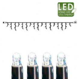 Гирлянда дождь 3x0,4м холоднобелая кабель черный дополнительная 50диодов LED outdoor