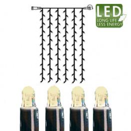 Гирлянда занавес 1x2м теплобелая кабель черный дополнительная 102диода LED outdoor