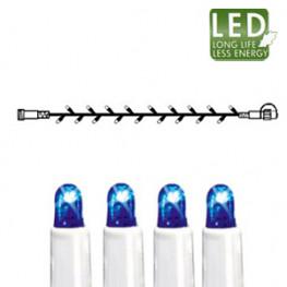 Гирлянда голубая дополнит 5м бел кабель 50диодов LED