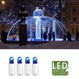 Гирлянда голубая дополнит 3м бел кабель 30диодов LED