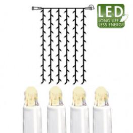 Гирлянда занавес 1x2м теплобелая кабель белый дополнительная 102диода LED outdoor