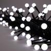 Гирлянда 7,9м белая Жемчуга кабель черный 10м 80диодов LED outdoor