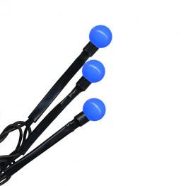 Гирлянда 8м синяя Жемчуга кабель черный 10м 80диодов LED outdoor