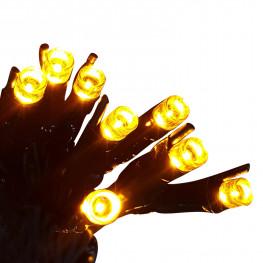 Гирлянда сетка 2x1м желтая кабель черный 10м 96диодов LED outdoor