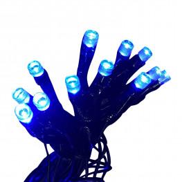 Гирлянда сетка 2x1м голубая кабель черный 10м 96диодов LED outdoor