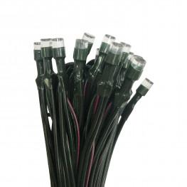 Гирлянда цепочка 5м разноцветная кабель зеленый 2м солнечная батарея 40диод