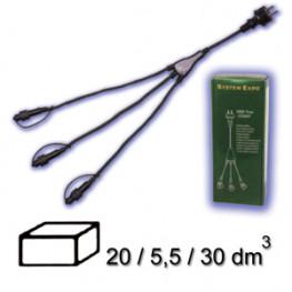 Кабель 1,8м+3х0,25м черный стартовый 3000 TREE EXPO IP44 outdoor