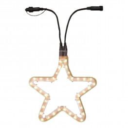 Гирлянда роуп лайт (дюралайт) d0,28м теплобелая Звезда Ropelight d13мм дополнительная 36ламп EXPO outdoor