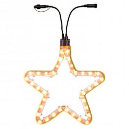 Гирлянда роуп лайт (дюралайт) d0,55м теплобелая Звезда Ropelight d13мм дополнительная 72лампы EXPO outdoor