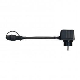 Кабель 1,8м+1,5м черный стартовый с трансформатором 20,4VA System 24 IP44 outdoor